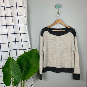 Apt. 9 Cream and Black Knit Sweater